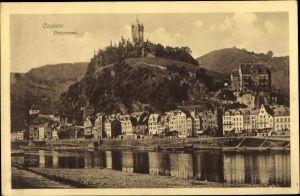 Ak Cochem im Landkreis Cochem Zell Rheinland Pfalz, Panorama mit Winneburg