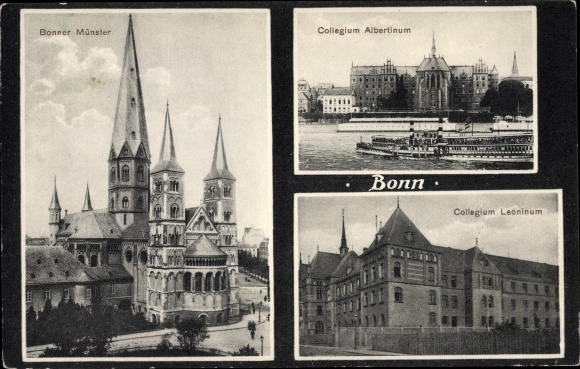 Ak Bonn in Nordrhein Westfalen, Münster, Collegium Albertinum, Collegium Leonium