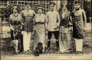 Ak Kronprinzenpaar, August Wilhelm, Eitel Friedrich, Kronprinz Wilhelm von Preußen