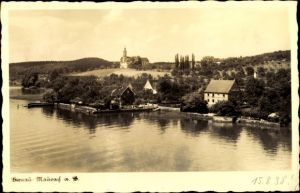 Ak Birnau Maurach Uhldingen Mühlhofen am Bodensee, Teilansicht, Kirche
