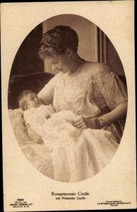 Ak Kronprinzessin Cecilie von Preußen mit Prinzessin Cecilie, Liersch 7904