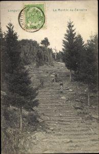 Ak Thionville Diedenhofen Lothringen Moselle, La Montee du Calvaire