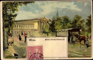 Künstler Litho Wien 1. Innere Stadt Österreich, Abgeordnetenhaus