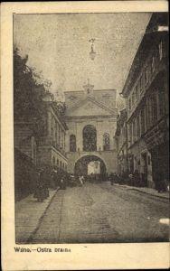 Ak Vilnius Wilna Litauen, Ostra brama, Straßenpartie, Tor