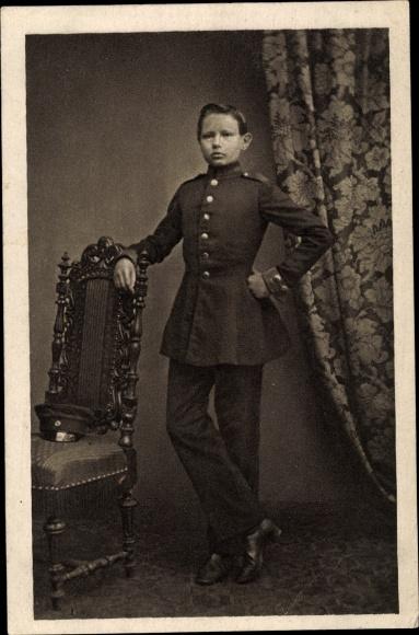 Ak Generalfeldmarschall Paul von Hindenburg, Als Kadett in Wahlstatt 1860