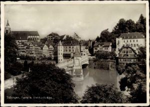 Ak Tübingen am Neckar Baden Württemberg, Partie m. Eberhardbrücke
