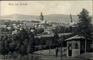 Ak Korbach in Hessen, Panorama vom Ort