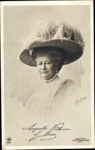 Ak Kaiserin Auguste Viktoria, Portrait, Hut, NPG 4094