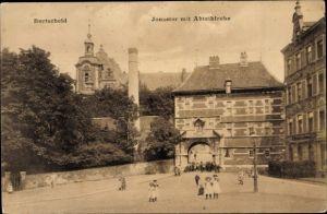 Ak Burtscheid Aachen Nordrhein Westfalen, Jonastor mit Abteikirche