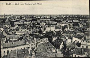 Ak Riga Lettland, Blick vom Domturm nach Osten