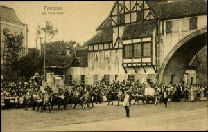 Ak 16. Dt. Bundesschießen 1909, Hamburg, Festzug, Die neue Burg