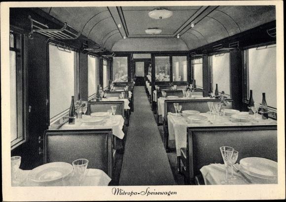 Ak Deutsche Reichsbahn, Mitropa Speisewagen