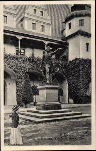 Ak Brzeg Brieg Schlesien, Denkmal Friedrich des Großen