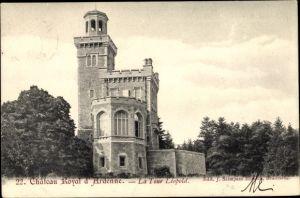 Ak Houyet Wallonien Namur, Chateau Royal d'Ardenne, Tour Léopold