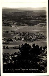 Ak Hundham Fischbachau Leitzach Oberbayern, Blick vom Schwarzenberg, Ort im Leitzachtal