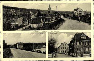 Ak Biesfeld Kürten im Rheinisch Bergischen Kreis, Kirchenfeld, Wohnhäuser
