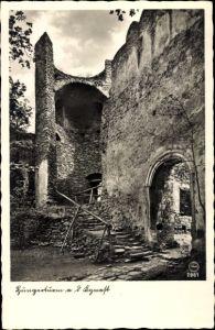 Ak Sobieszów Hermsdorf Kynast Riesengebirge Schlesien, Hungerturm a. d. Kynast