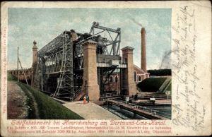 Ak Waltrop im Ruhrgebiet, Schiffshebewerk bei Henrichenburg, Dortmund Ems Kanal