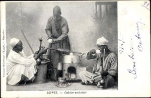 Ak Ägypten, Cafetier ambulant, Kaffeeverkäufer