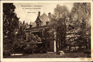 Ak Sokołowsko Görbersdorf Schlesien, Dr. Brehmers Heilanstalten, Neues Haus