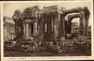 Ak Angkor Wat Kambodscha, Tempelanlage, Bibliothek, Ruine