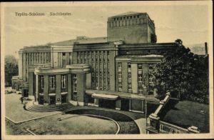 Ak Teplice Teplitz Schönau Reg. Aussig, Stadttheater