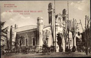 Ak Milano Mailand Lombardia, Esposizione 1906, Ingresso alle Belle Arti