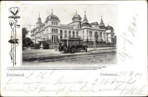 Passepartout Ak Dortmund im Ruhrgebiet, Straßenbahn am Fredenbaum