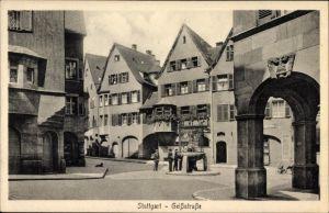 Ak Stuttgart in Baden Württemberg, Blick in die Geißstraße, Passanten