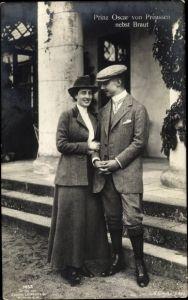 Ak Oskar Prinz von Preußen, Gräfin Ina Marie von Bassewitz, Liersch 7033