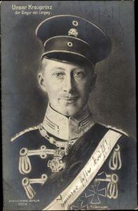 Künstler Ak Kronprinz Wilhelm von Preußen, Portrait, Husarenuniform, PH 2576