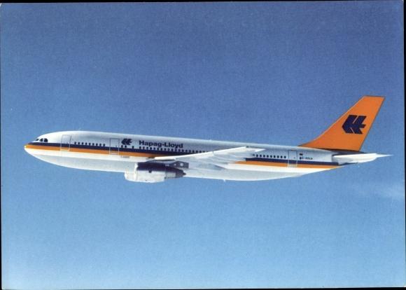 Ak Deutsches Passagierflugzeug, Hapag Lloyd Airbus A-300 B4, 870 km/h