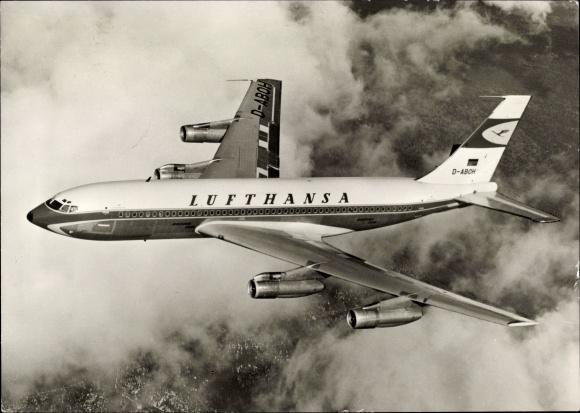 Ak Deutsches Passagierflugzeug, Lufthansa Boeing Jet 720 B