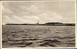 Ak Greifswalder Oie Kröslin Ostsee, Helgoland der Ostsee, Panorama mit Leuchtturm