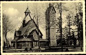 Ak Brückenberg b. Krummhübel Schlesien, Kirche Wang