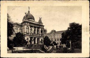 Ak Opava Troppau Reg. Mährisch Schlesien, Landesmuseum