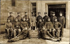 Foto Ak 8. Korporalschaft Gengenbach, 1. Rekrutendepot, Gruppenbild 1917