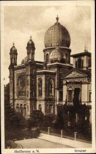 Judaika Ak Heilbronn in Baden Württemberg, Ansicht der Synagoge