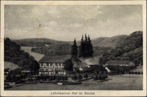 Ak Hoffnungsthal Rösrath Rheinisch Bergischen Kreis, Pension Lehmbacher Hof, Sülztal, Gesamtansicht