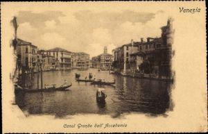 Ak Venezia Venedig Veneto, Canal Grande dall' Accademia