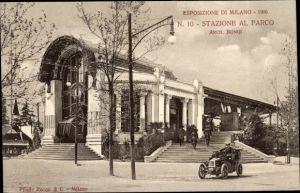 Ak Milano Mailand Lombardia, Esposizione 1906, Stazione al Parco