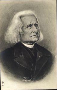 Künstler Ak Franz Liszt, Liszt Ferencz, Österreichisch-ungarischer Komponist, Portrait