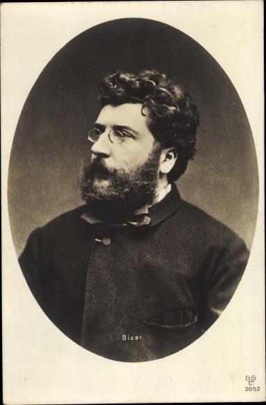 Ak Georges Bizet, Französischer Komponist, Romantik, Portrait