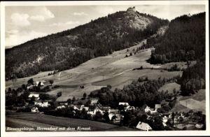 Ak Sobieszów Hermsdorf Kynast Riesengebirge Schlesien, Ort, Kynast