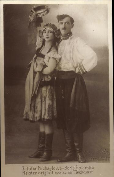 Ak Natalia Michaylowa, Boris Bojarsky, Meister original russischer Tanzkunst