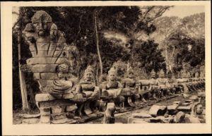 Ak Kambodscha, Angkor Thom, Le Naga, Porte de la Victoire