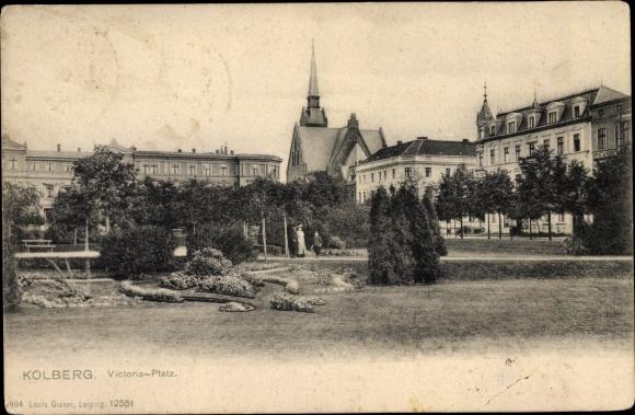 Ak Kołobrzeg Kolberg Pommern, Victoriaplatz