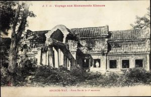 Ak Kambodscha, Angkor Wat, Porte Est de la 1re enceinte
