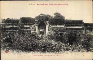 Ak Kambodscha, Angkor Wat, Porte Sud de la 1re enceinte