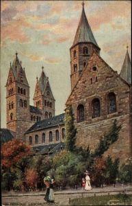 Künstler Ak Halberstadt in Sachsen Anhalt, Liebfrauenkirche